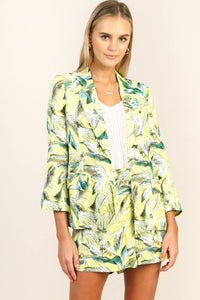 Tropical Printed Blazer