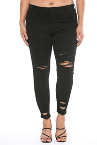 Destroyed Ankle Cutout Skinny