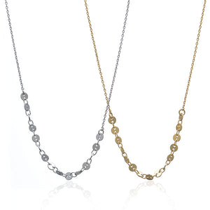 Sequin Necklace Silver