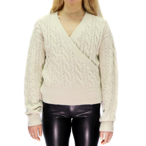 Surplice Front Sweater