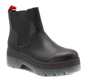 Cayson Black Lug Chelsea Boot
