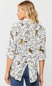 Riley Tiger Blouse