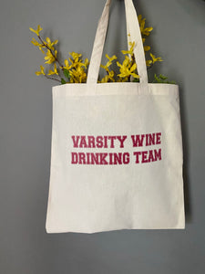 Wine Drinking Tote Bag