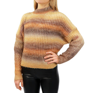 Faded Sunset Mock Neck Sweater