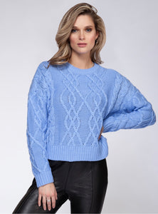 Cable Knit Crewneck Sweater