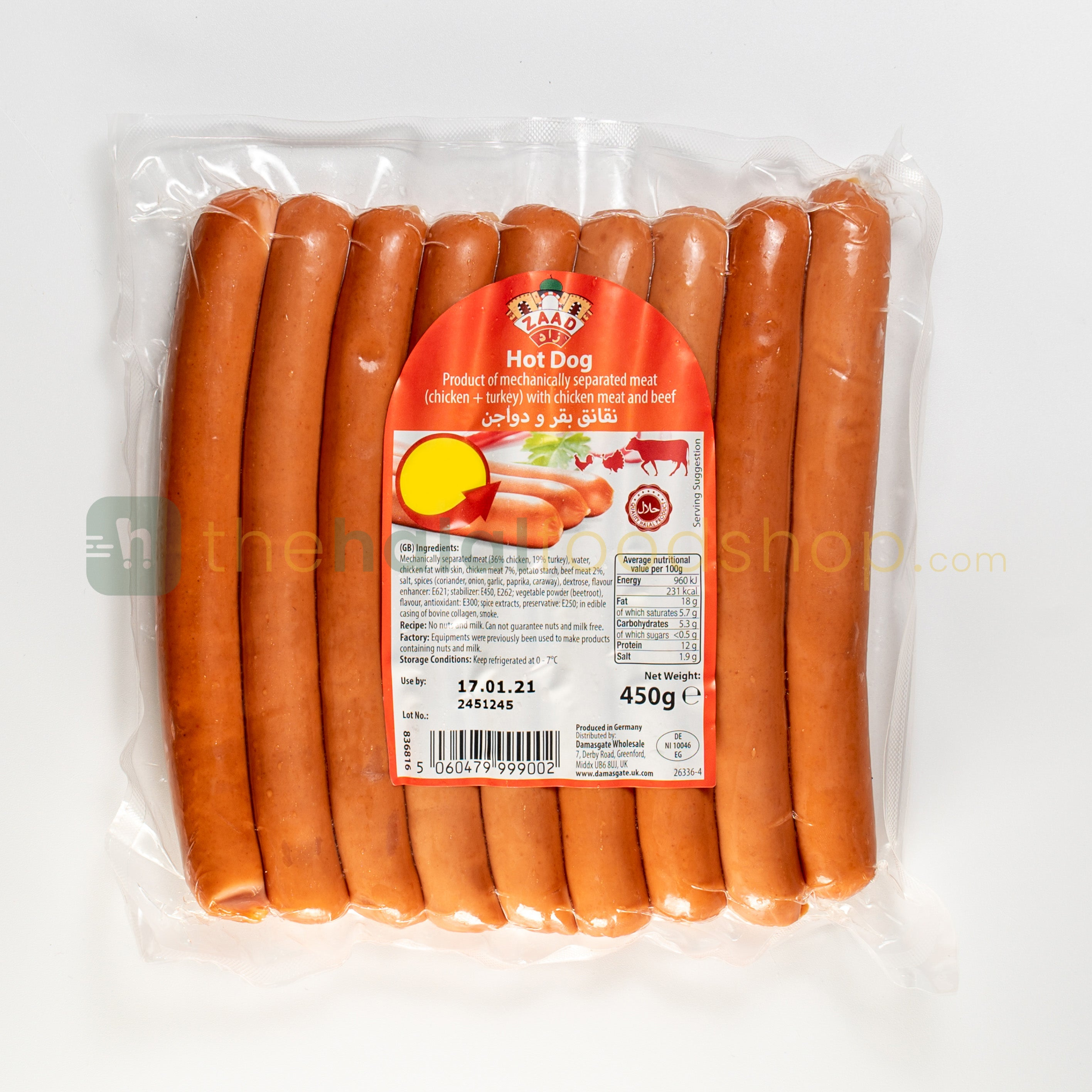 Zaad Hot Dog 450g
