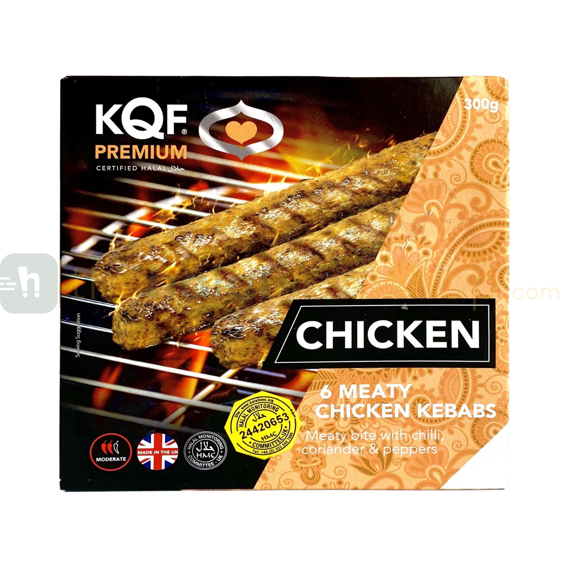 KQF Meaty Chicken Kebabs 6 Pcs (300g)