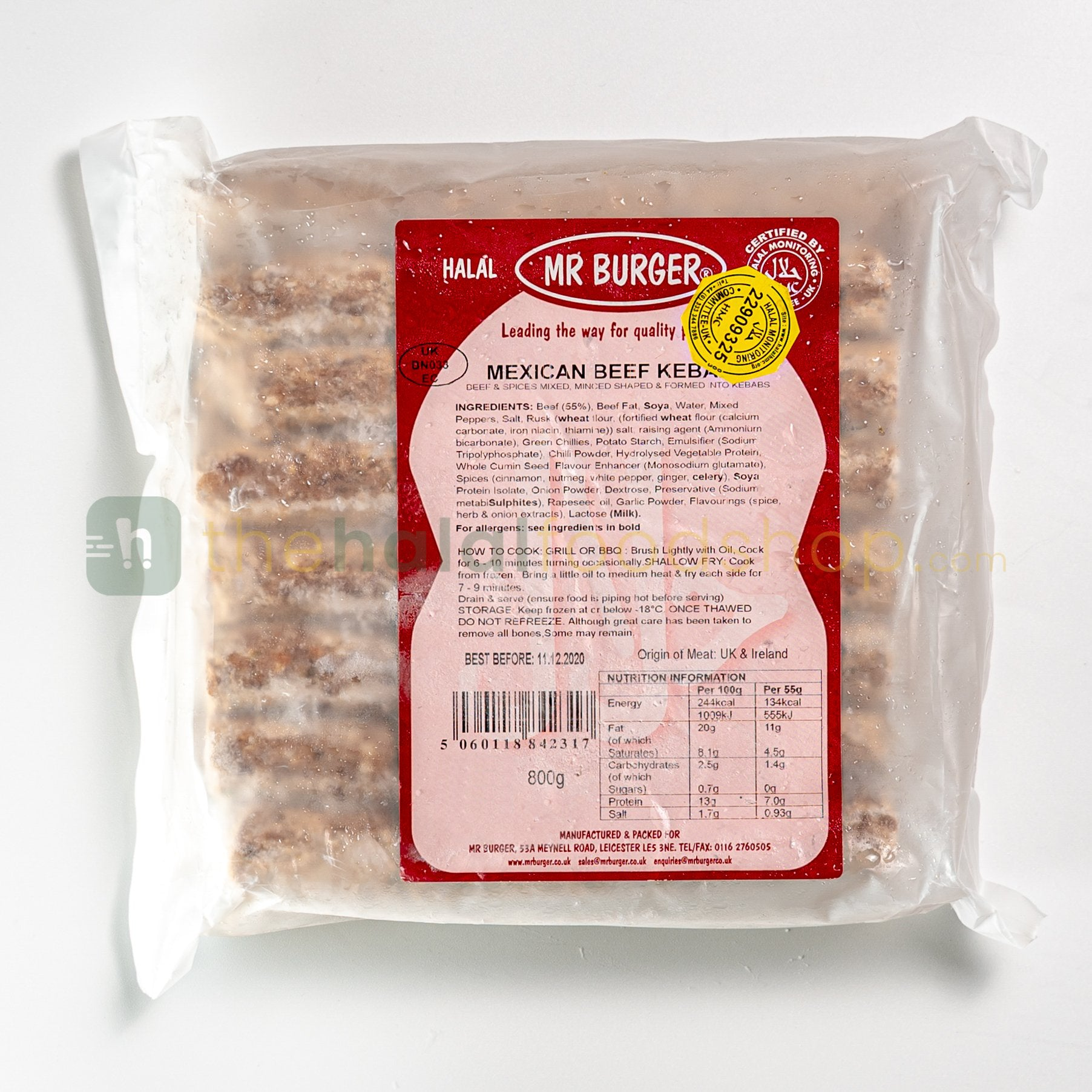 Mr Burger Mexican Beef Kebabs (800g)