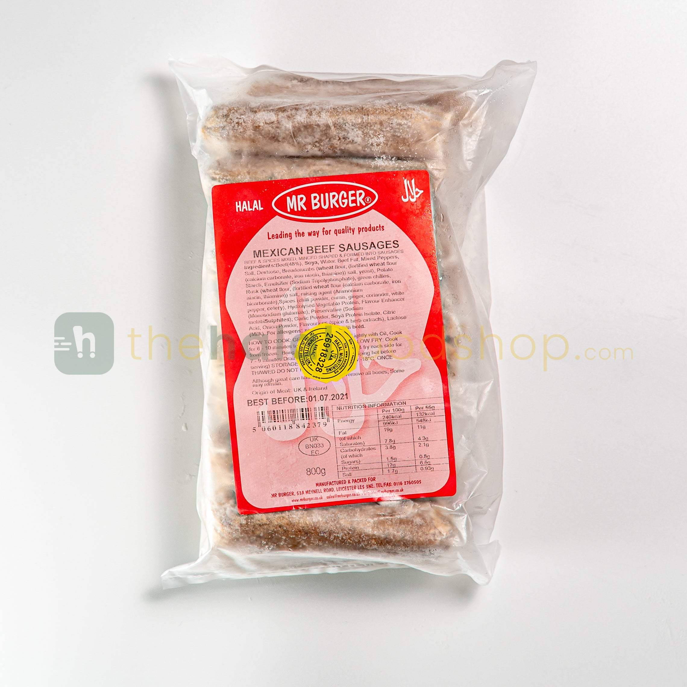 Mr Burger Mexican Beef Sausages (800g)