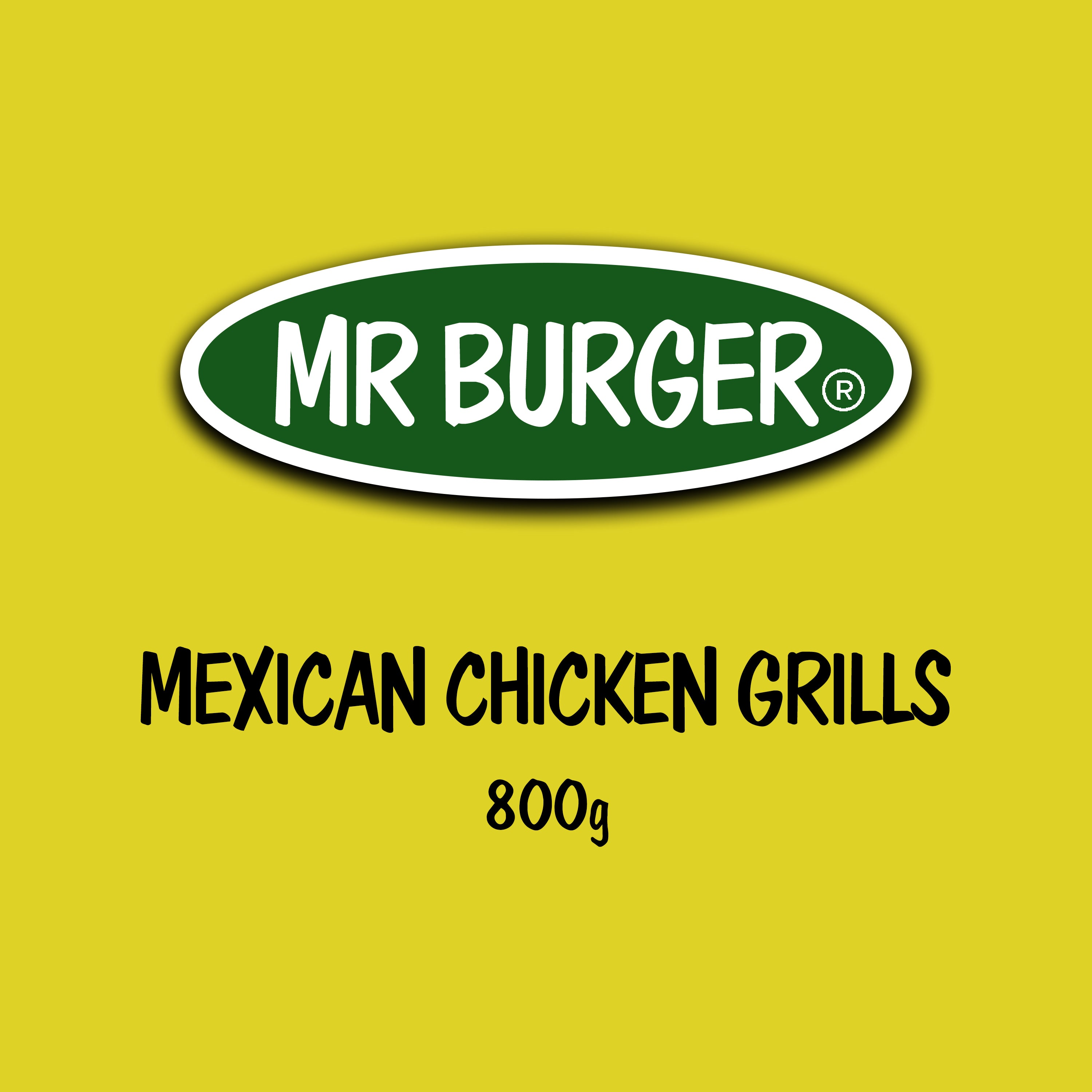 Mr Burger Mexican Chicken Grills (800g) - The Halal Food Shop