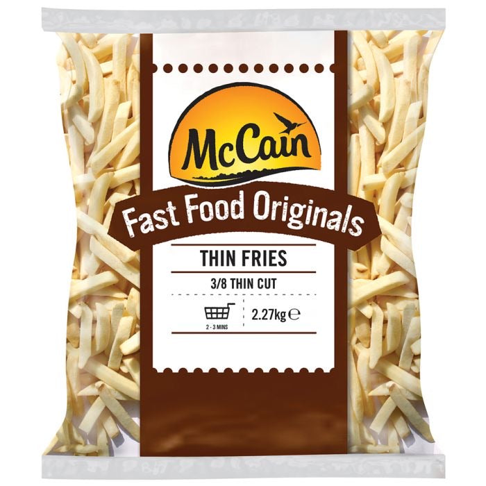 Mc Cain Fast Good Original Thin Fries (2.5kg) - The Halal Food Shop