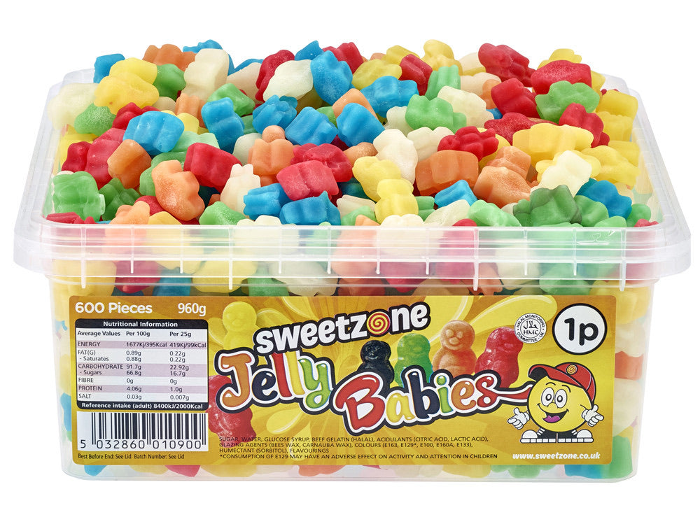 Sweetzone Jelly Babies 600 pcs (960g) - The Halal Food Shop