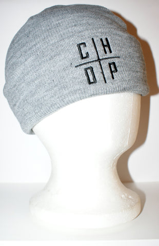 Chop Cross Beanie - Grey Marle