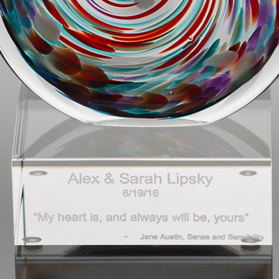 Unity in Glass Engraved Aurora Package (includes up to 4 colors)