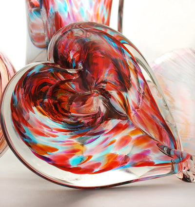 Unity in Glass Heart-shaped Paperweight Package (includes up to 4 colors)