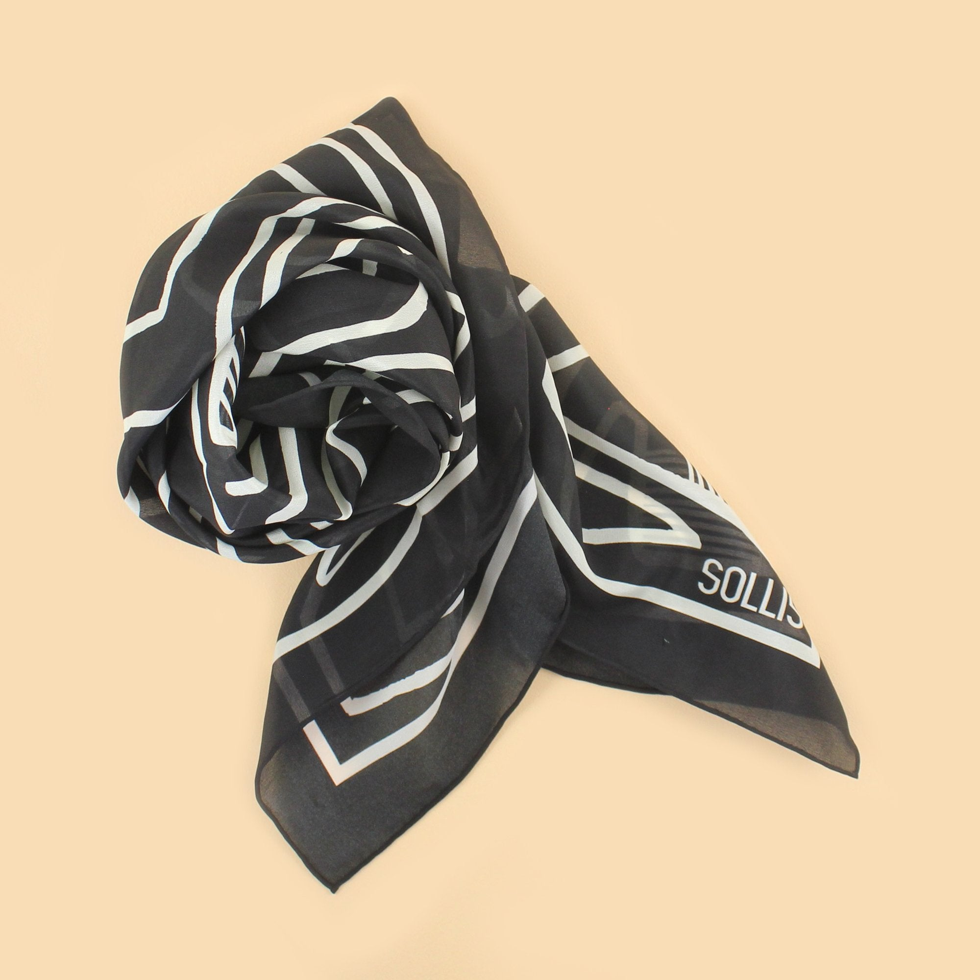 SILK SCARF - 'LINES' design - 70% OFF