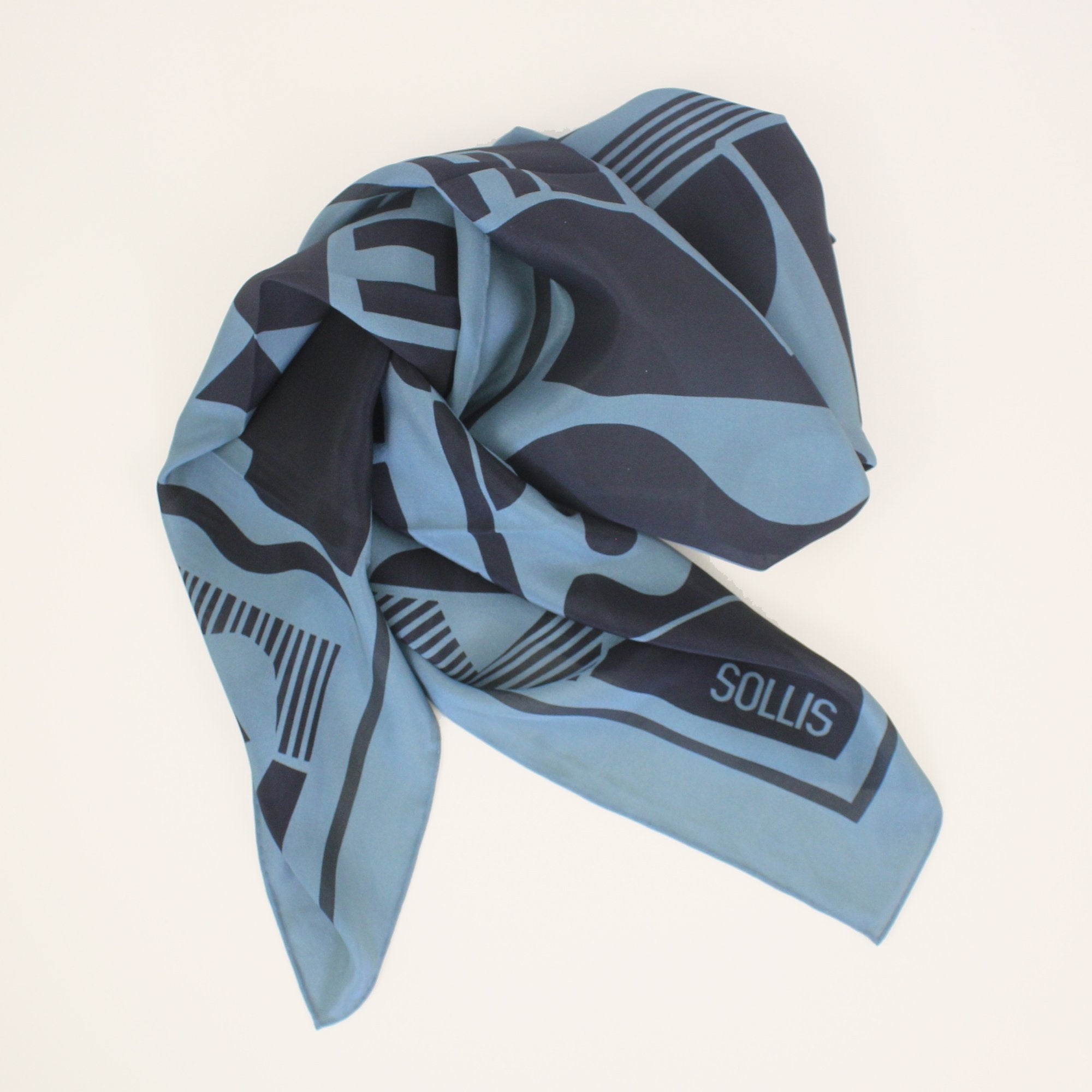 SILK SCARF - 'SHAPES' design - 40% OFF