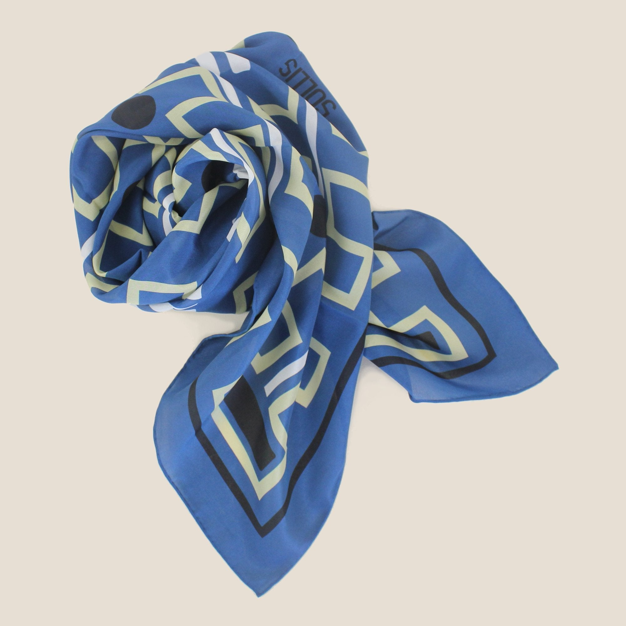 SILK SCARF - 'ZIG' design - 60% OFF