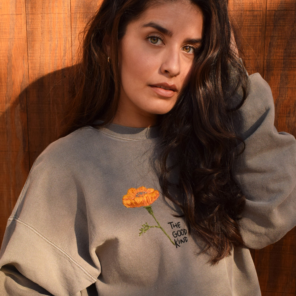 california poppy sweatshirt