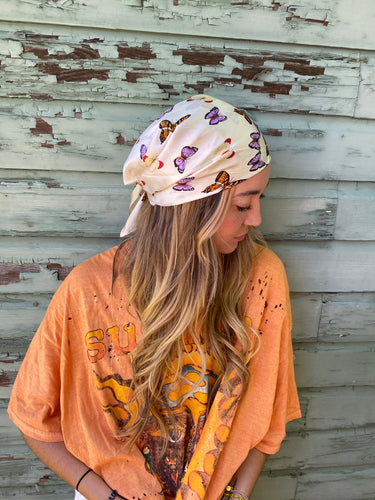 Fly away hair scarf