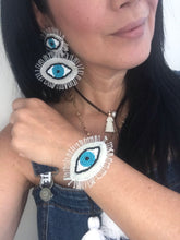 Load image into Gallery viewer, Set bracelets and evil eye earring lightweight