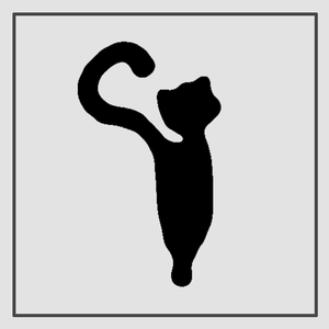 Semink-2 Week Temporary Tattoos-Standing cat