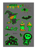 Semink-Tattoo Sticker-Halloween Castle Witch Child Fluorescent Sticker