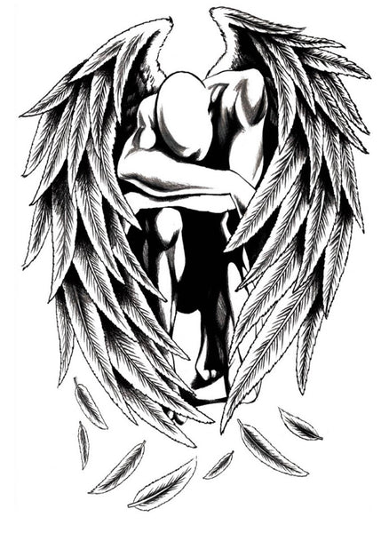 Semink-Tattoo Sticker-Angel Spread Wings
