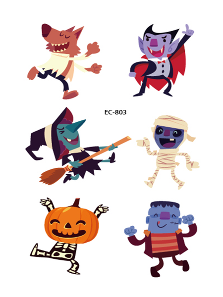 Semink-Tattoo Sticker-Halloween Trick Character Pumpkin Cute Sticker