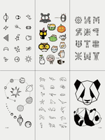 Semink-Tattoo Sticker-Panda Planets And Cute Icons