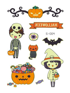 Semink-Tattoo Sticker-Halloween Pumpkin Lamp Witch Night Fluorescent Sticker