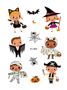Semink-Tattoo Sticker-Halloween Pumpkin Lamp Child Temporary Sticker