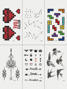 Semink-Tattoo Sticker-Tetris Brids Lotus
