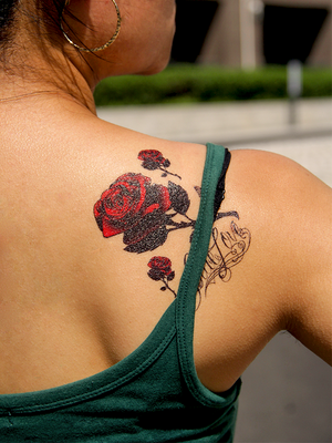 Semink-Tattoo Sticker-Red Roses