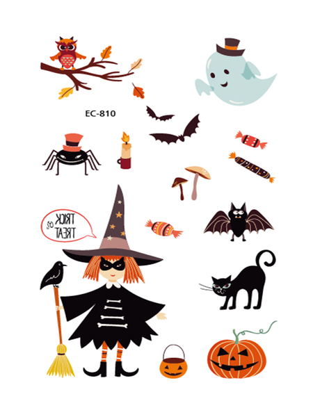 Semink--Halloween Tricksters With Pumpkin Lights Asking For Candy Stickers-I