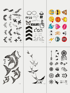 Semink-Tattoo Sticker-Emoji Shark And Swallow