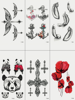 Semink-Tattoo Sticker-Panda Boxer Anchor Cross