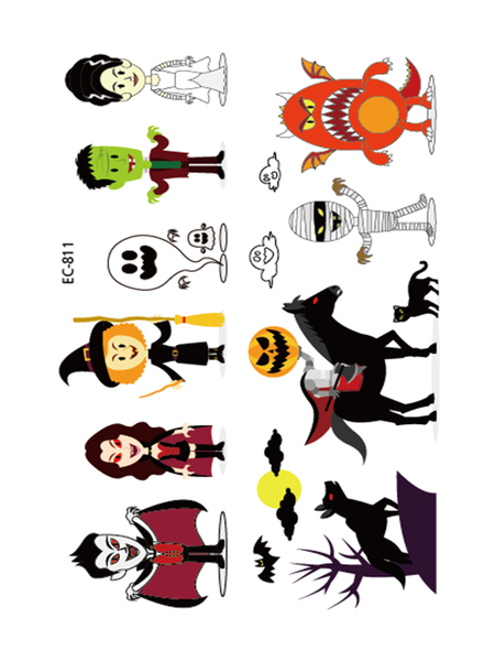 Semink-Tattoo Sticker-Halloween Family Masquerade With Animated Character Stickers