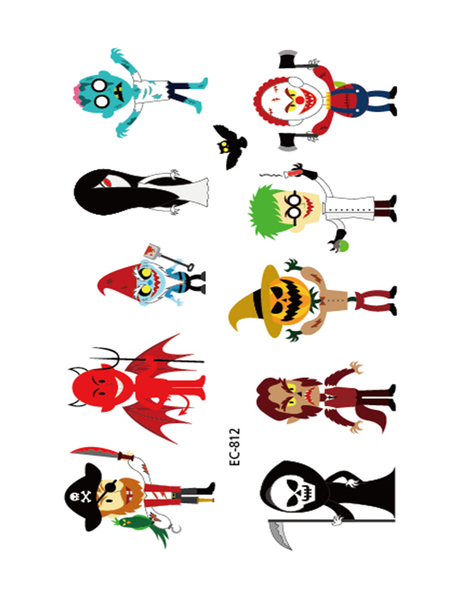 Semink-Tattoo Sticker-Halloween Trick And Villain Children Animation Stickers