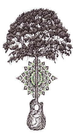 Semink-Tattoo Sticker-Tree and guitar