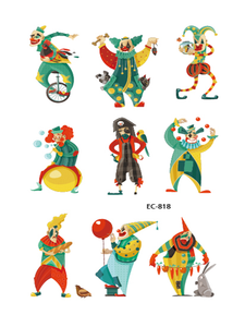 Semink-Tattoo Sticker-Halloween Pirate Captain With Clown Animated Sticker