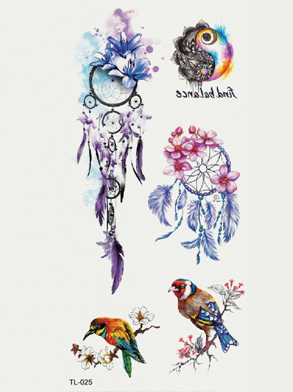 Semink-Tattoo Sticker-Dream Catchers of Lilac