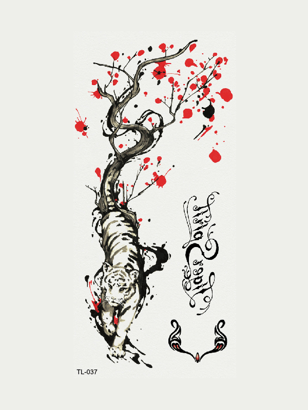 Semink-Tattoo Sticker-Tiger From A Tree