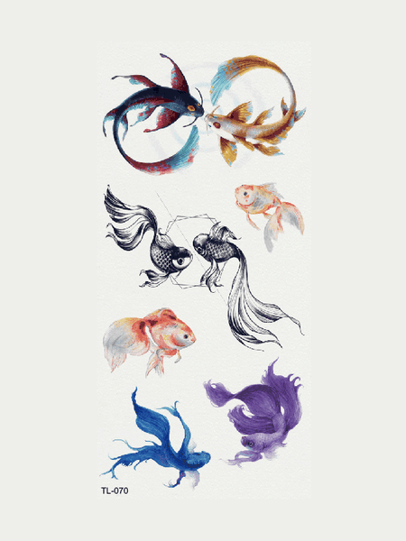Semink-Tattoo Sticker-Goldfish