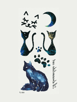 Semink-Tattoo Sticker-Moonlight Cats