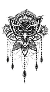 Semink-Tattoo Sticker-Topknot with eagle eyes