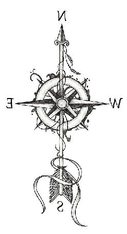 Semink-Tattoo Sticker-Compass