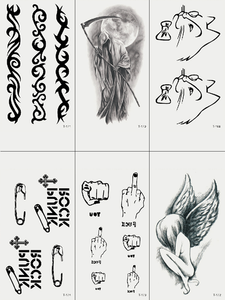 Semink-Tattoo Sticker-Angel And Cat And Gesture