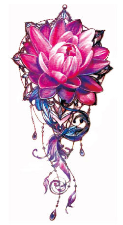 Semink-Tattoo Sticker-Lotus and jewelry