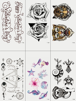 Semink-Tattoo Sticker-Tiger Flower And Merimad